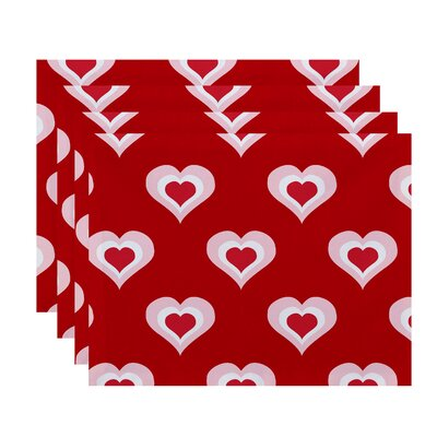 Valentine's Day Placemat Color: Fuchsia