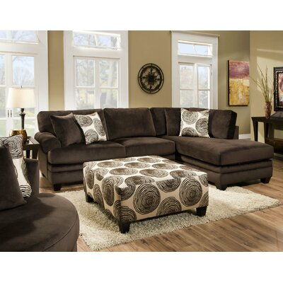 Ussery Sectional Upholstery: Groovy Chocolate / Big Swirl Chocolate