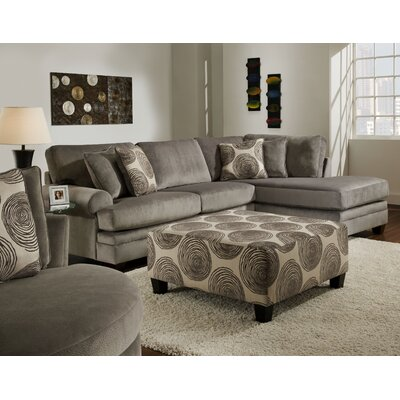 Ussery Sectional Upholstery: Groovy Smoke / Big Swirl Smoke