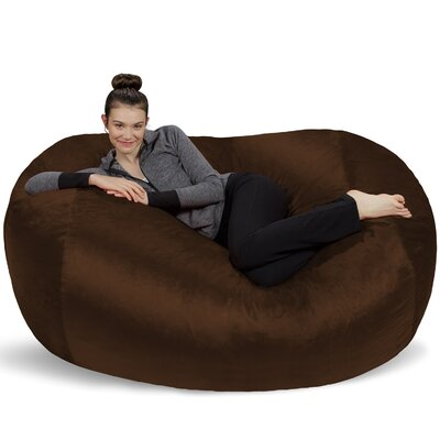 Microsuede Bean Bag Lounger Upholstery: Brown