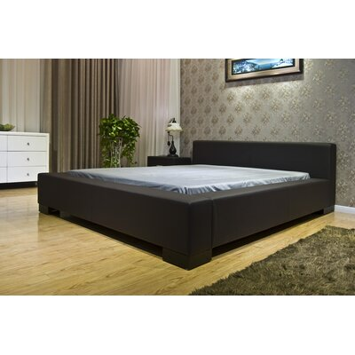 Astor Upholstered Platform Bed Size: King, Color: Dark Brown