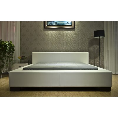 Astor Upholstered Platform Bed Size: California King, Color: White