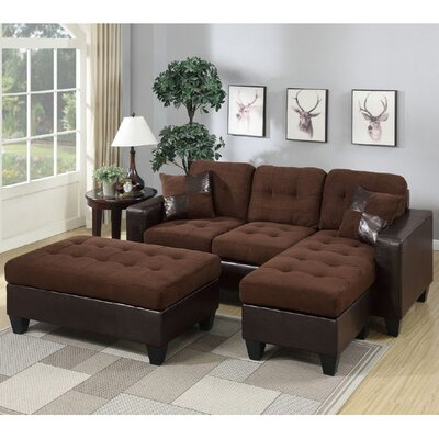 Latitude Run LATT3748 Glosco Sectional Upholstery