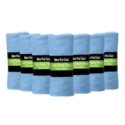 Windsor Lane Soft Warm Fleece Throw Blanket Color: Light Blue