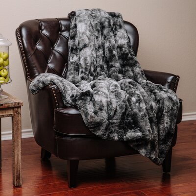 Trio Super Soft Fuzzy Fur Warm Cozy Sherpa Throw Blanket Color: Gray, Size: 65 L x 50 W