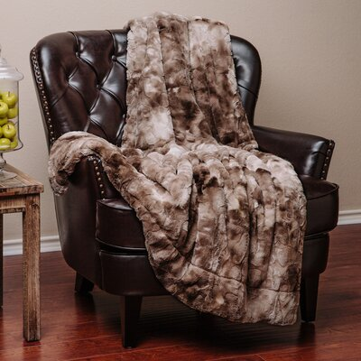 Trio Super Soft Fuzzy Fur Warm Cozy Sherpa Throw Blanket Size: 70 L x 60 W, Color: Beige