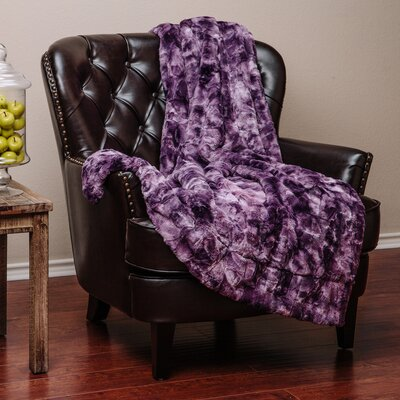 Trio Super Soft Fuzzy Fur Warm Cozy Sherpa Throw Blanket Color: Aubergine, Size: 65 L x 50 W