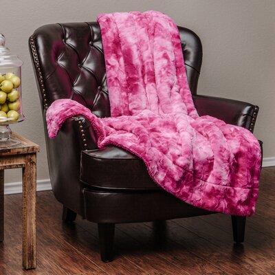 Trio Super Soft Fuzzy Fur Warm Cozy Sherpa Throw Blanket Color: Pink, Size: 65 L x 50 W