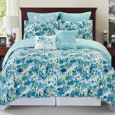 Swarna Floral Reversible Comforter Set Size: Twin