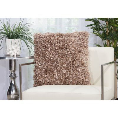 Katia Shag Throw Pillow Color: Brown
