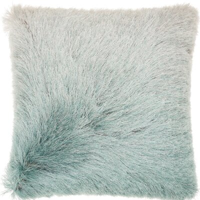 Oren Shag Throw Pillow Color: Celadon