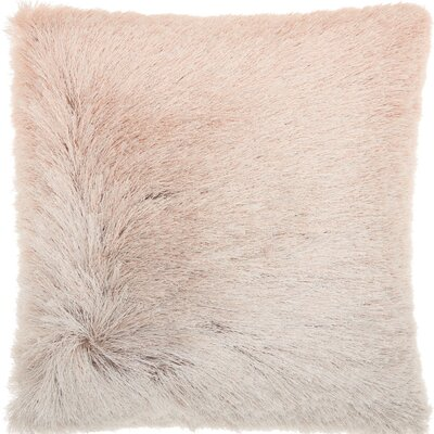 Oren Shag Throw Pillow Color: Rose