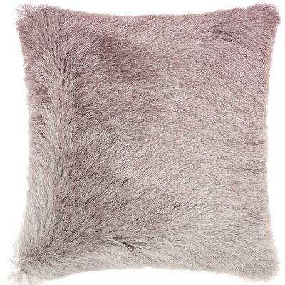 Rosia Shag Throw Pillow Color: Lavender