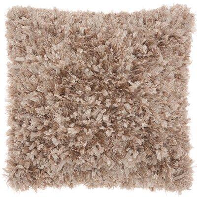 Katia Shag Throw Pillow Color: Brown