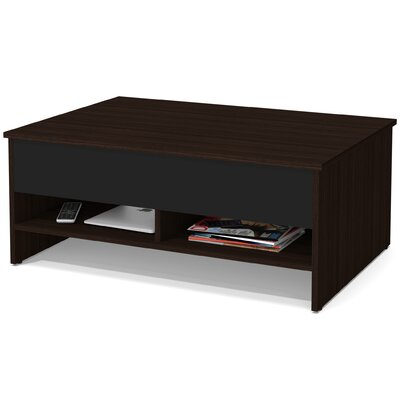 Frederick Storage Coffee Table with Lift Top Color: Dark Chocolate/Black