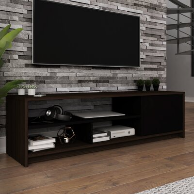 Frederick 53.5 TV Stand Color: Dark Chocolate/Black