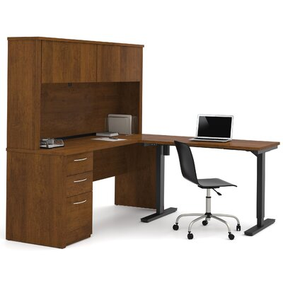 Electric Adjustable Height L Shape Computer Desk Hutch Product Picture 1256