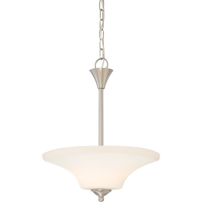 Mathews 2-Light Bowl Pendant Finish: Brushed Nickel