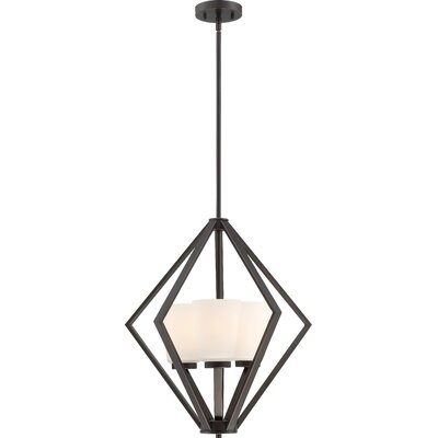 Naccarato 3-Light Foyer Pendant Finish: Mahogany Bronze