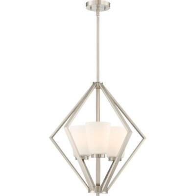 Walton 3-Light Foyer Pendant Finish: Brushed Nickel