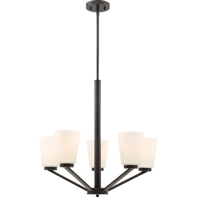 Walton 5-Light Shaded Chandelier Finish: Mahogany Bronze