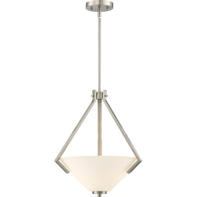 Naccarato 2-Light Bowl Pendant Finish: Brushed Nickel