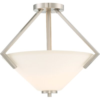 Naccarato 2-Light Semi Flush Mount Finish: Brushed Nickel