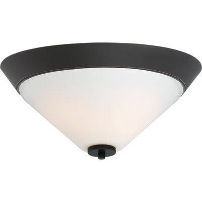 Naccarato 2-Light Flush Mount Finish: Mahogany Bronze