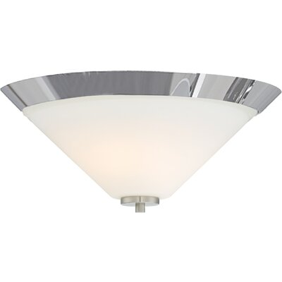 Naccarato 2-Light Flush Mount Finish: Brushed Nickel