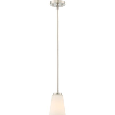 Walton 1-Light Mini Pendant Finish: Brushed Nickel