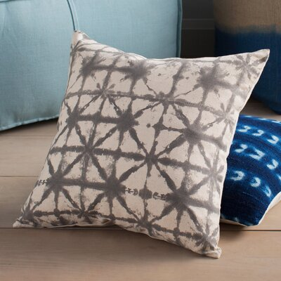 Austin Nebula Throw Pillow Cover Size: 18 H x 18 W x 1 D, Color: GrayNeutral