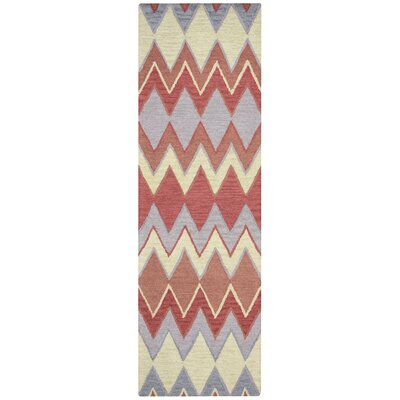 Chaney Hand-Tufted Terracotta Area Rug Rug Size: Runner 26 x 10