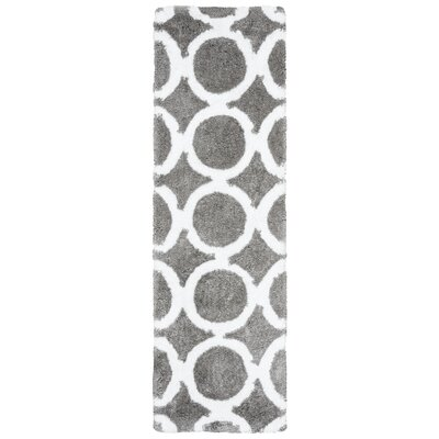 Mckinney Hand-Tufted Gray Area Rug Rug Size: Rectangle 5 x 8