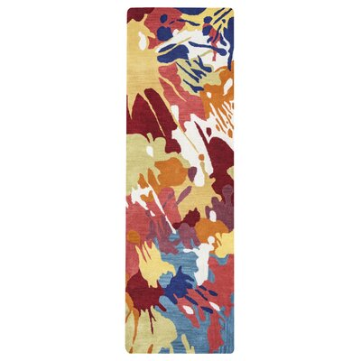 Jacobson Hand-Tufted Gold Area Rug Rug Size: 10 x 14