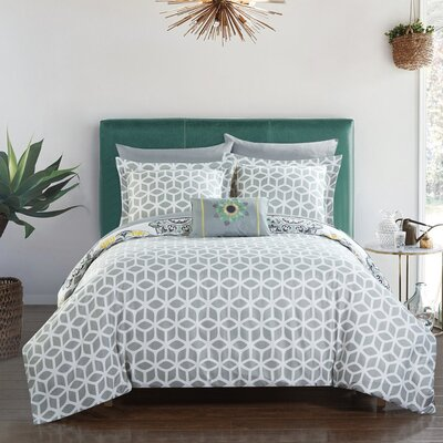 Fuller Reversible Comforter Set Size: Full/Queen, Color: Gray