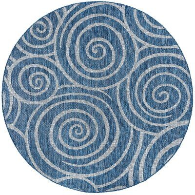 Weber Transitional Indigo Indoor/Outdoor Area Rug Rug Size: Rectangle 53 x 73