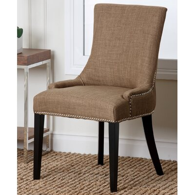 Keziah Nailhead Dining Chair Upholstery: Fabric - Gold