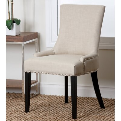 Keziah Nailhead Dining Chair Upholstery: Fabric - Ivory