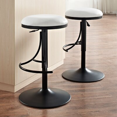 Stein 31 Swivel Bar Stool Finish: Black, Upholstery: White