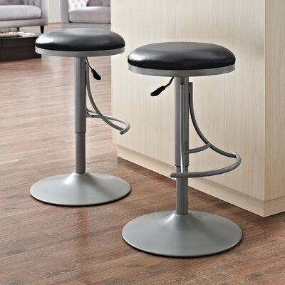 Stein 31 Swivel Bar Stool Finish: Platinum, Upholstery: Black