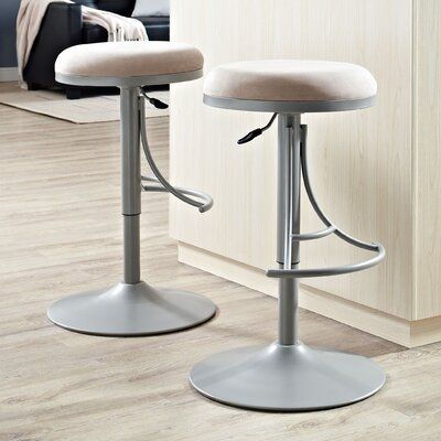 Stein 31 Swivel Bar Stool Finish: Platinum, Upholstery: Light Tan