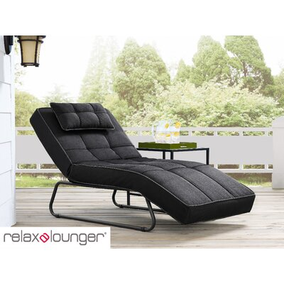 Andrew Outdoor Convertible Chaise Lounge with Cushion Fabric: Dark Gray