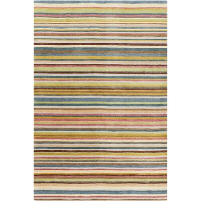 Mann Multi-Colored Striped Rug Rug Size: 33 x 53