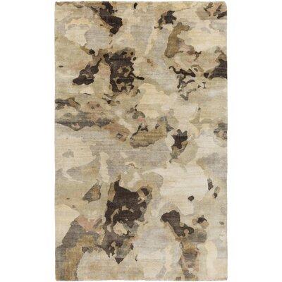 Adkins Beige/Gold Rug Rug Size: 9 x 13