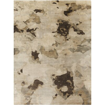 Adkins Beige/Gold Rug Rug Size: Rectangle 5 x 8