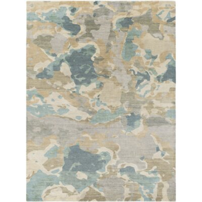 Adkins Handmade Butter/Forest Area Rug Rug Size: Rectangle 8 x 11