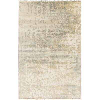 Eridani Ivory/Slate Solid Rug Rug Size: Rectangle 8 x 11
