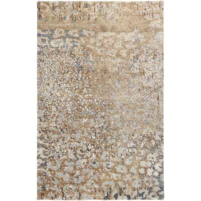 Eridani Beige/Iris Solid Rug Rug Size: Rectangle 2 x 3