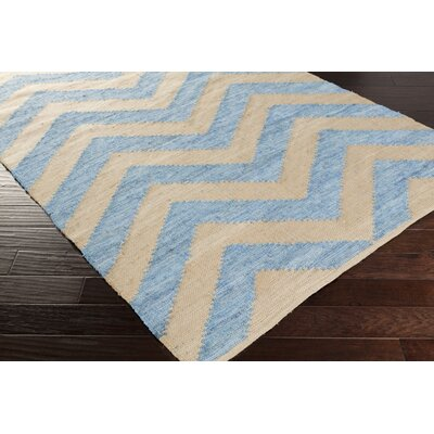 Phillips Hand-Loomed Beige/Slate Area Rug Rug Size: Rectangle 8 x 11