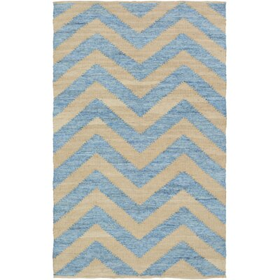 Phillips Hand-Loomed Beige/Slate Area Rug Rug Size: Rectangle 5 x 8